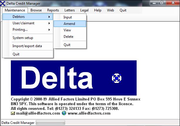 Delta menu